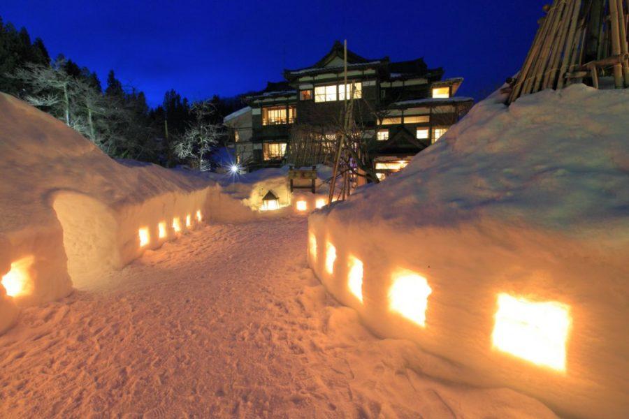 嵐渓荘冬景色